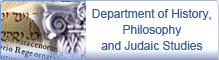 Department of History, Philosophy and Judaic Studies