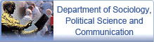 Department of Sociology, Political Science and Communication